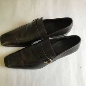 Gucci dress shoes slip on brown